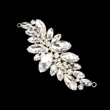 Marquise Crystal Cluster Hair Comb Headpiece