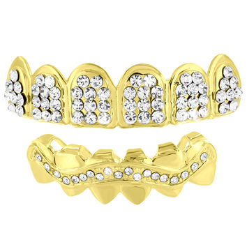 Fully Iced Out Grillz Top Bottom Set Sale