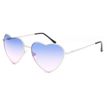 Full Tilt Ombre Heart Sunglasses Gold One Size For Women 26082962101