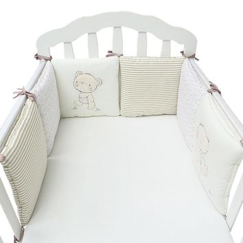 6Pcs/Lot Crib Bumper Baby Bed Bumper Infant Bed Cot Protector Breathable Baby Crib Cushion Toddler Nursery Bedding