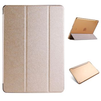 Natural silk and plastic Back Cover Case For iPad Air 1 Air 2 Pro 9.7