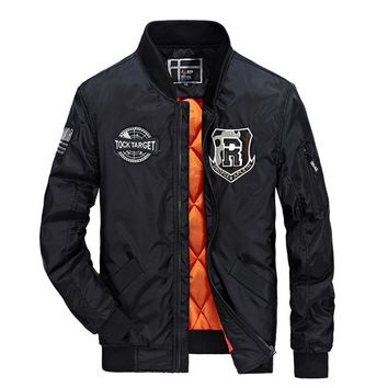 Mens Street Style Bomber Jacket in Classic Midnight Black
