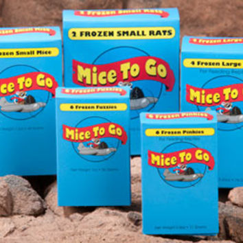 Mice To Go Frozen Feeder Pinkies, Fuzzies, Mice & Rats for Reptiles