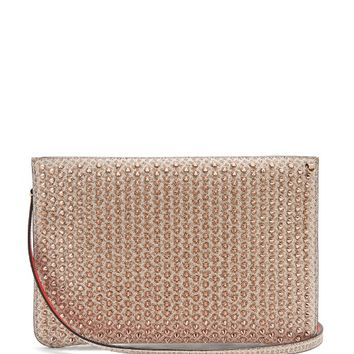 Loubi spike-embellished leather clutch | Christian Louboutin | MATCHESFASHION.COM US