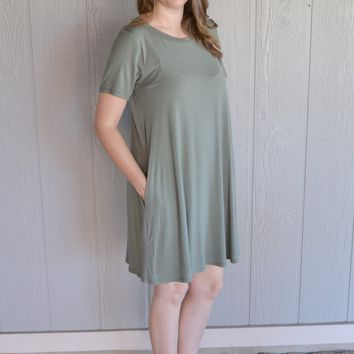 Weekend Fun Dress: Olive