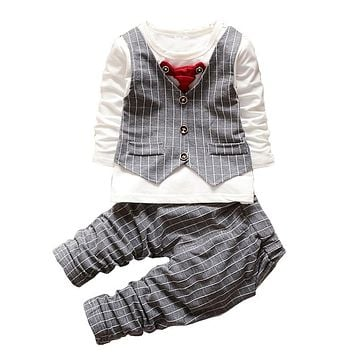 BibiCola Boys Clothing Sets 2017 Autumn Baby Boys Christmas Outfits Children Boys Tracksuit 2PCS Kids Boys Formal Clothes