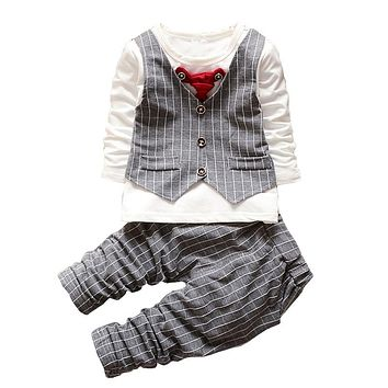 Boys Clothing Sets Autumn Baby Boys Christmas Outfits Children Boys Tracksuit 2 PCs Kids Boys Formal Clothes