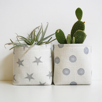 Stars & Dots Printed Storage Bins