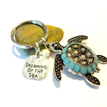 Dreaming of the Sea Turtle Keychain