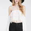 Off-The-Shoulder Crochet Crop Top