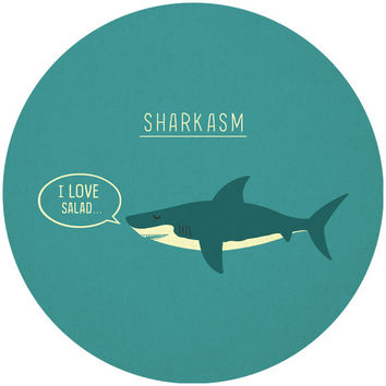 Teo Zirinis's Sharkasm Circle Decal