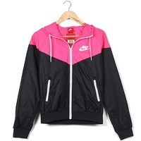 """NIKE"" Women Hooded Zipper Cardigan Sweatshirt Jacket Coat Windbreaker B"