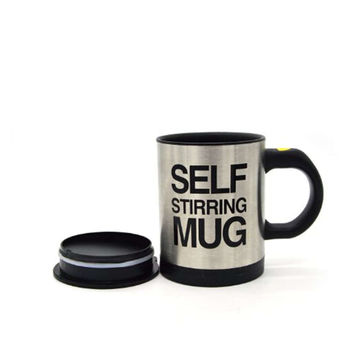 Self Stirring Coffee Mug - Electric Stainless Steel Automatic Self Mixing Cup