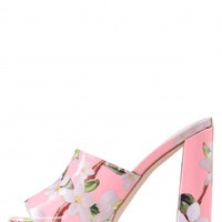 Jeffrey Campbell Shoes CHIKA-NS New Arrivals in Pink Floral