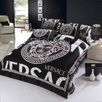 Versace Medusa Bedding 4 Piece Monogram Doona Queen Size