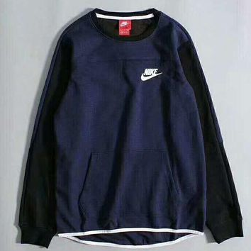 Nike Fashion Splicing Printed Womens Casual Long Sleeve Pullovers Sweaters G-A-GHSY-1