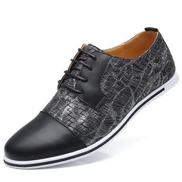 Luxury Thunder Printed Leather Casual Shoes