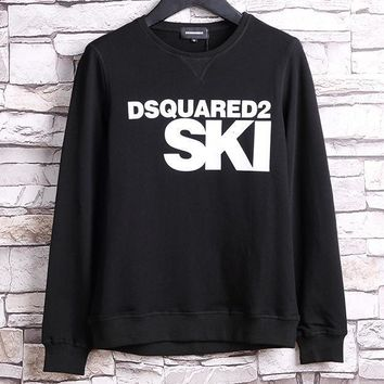 One-nice™ Dsquared2 SKI Fashion Round Neck Long Sleeve Top Sweater Pullover