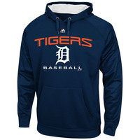 Detroit Tigers Majestic 2 Cool Synthetic Pullover Hoodie – Navy Blue