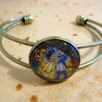 Belle and the Beast Stained Glass Cameo Cuff by KawaiiCandyCouture