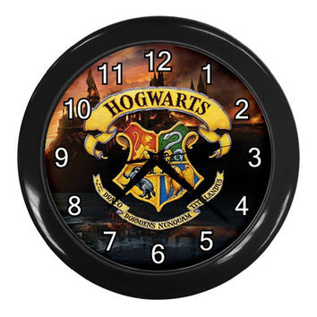 New Harry Potter HOGWARTS SCHOOL Black Wall Clock