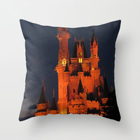 Cinderella Castle Disney Pillowcase, Photo Pillow Case, Disney World Pillow, Castle Pillow, Whimsical, Fairy Tale, 16X16 Pillow Cover 18X18