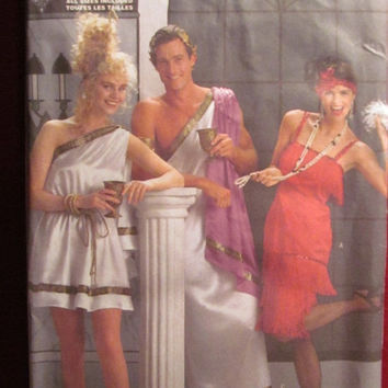 SALE Uncut Butterick Sewing Pattern, 4199! All Sizes/Adults/1920's Flapper Dresses/Greek Togas/Roman Costumes/Pullover Straight Dress Mu Mu