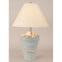 Coast Lamp Manufacturing 12BD Bucket of Shells Cottage Seamist One-Light Table Lamp