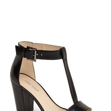 "Women's Nine West 'Brannah' T-Strap Sandal, 3"" heel"