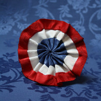 Les Miserables Cockade Rosette Pin Red White Blue - Pleated