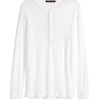 Linen Henley Shirt - from H&M