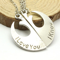 New Fahionable Star Wars Jewelry Unisex Rebel Alliance Stainless Steel Small Chain Silver Plated Pendant Necklaces