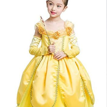 Princess Belle Beauty and the Beast Girls Costume
