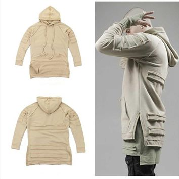 ca auguau high street hiphop clothes harajuku men urban clothing korean distressed ripped oversized hoodie drake kanye west hoodies