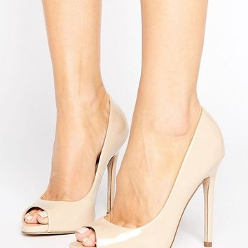 ASOS PRAISE Peep Toe High Heels at asos.com