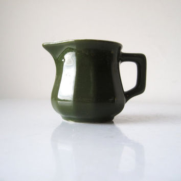 Green Creamer, Vintage Hall Restaurant Ware Creamer, Vintage Green Coffee Creamer, SALE