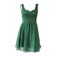 Zac Posen Emerald Green Dress