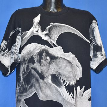 90s Jurassic Park Lost World All Over Print t-shirt Extra Large