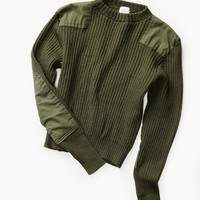 Free People Vintage 1950s Military Sweater