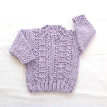 Infant sweater - 6 to 12 months - Baby girl sweater - Baby clothes - Baby knits