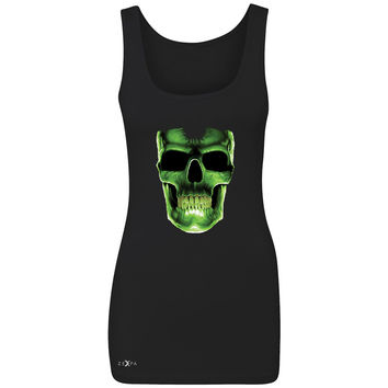 Zexpa Apparel™ Skull Glow In The Dark  Women's Tank Top Halloween Event Costume Sleeveless