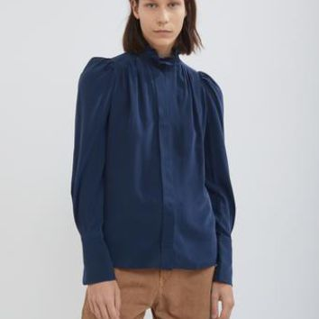 Lamia Silky Pleated Blouse by Isabel Marant- La Garçonne