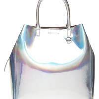 Banana Republic Hologram Tote Size One Size - Silver