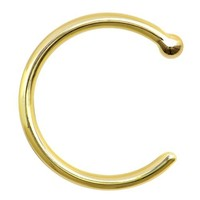 18 Gauge Solid 14KT Yellow Gold Nose Hoop - 5/16""