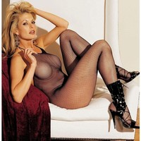 Shirley of Hollywood IS-SOH-90025 Fishnet Halter Body Stockings