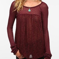 Kimchi Blue Sweater Knit Baby Doll Top