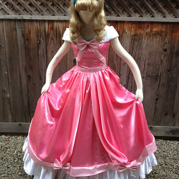 Cinderella Pink Mice Ballroom Dancing Gown Dress Couture Custom Made