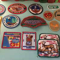Boy Scout Patches Lot of 19 Boy Scouts of America Patches BSA Badges Collectible Lot B