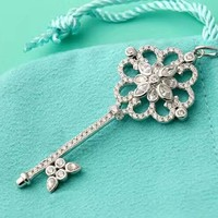 Tiffany & Co. Cherry Grass Key Necklace