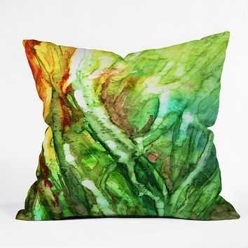 Rosie Brown Seagrass Throw Pillow